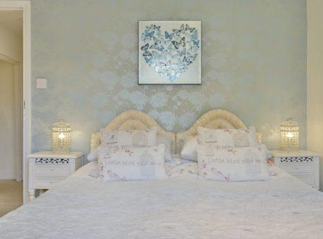 Bedroom with Heart wall art